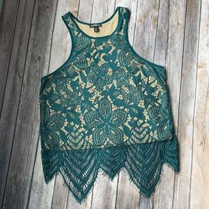 Express Cropped Lace Tank